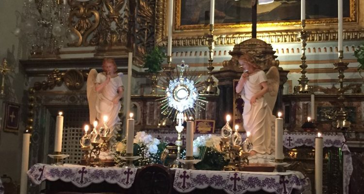 40 Hours Adoration retreat in St. Peter's Benedictine Monastery, Mdina, Malta – April 2019