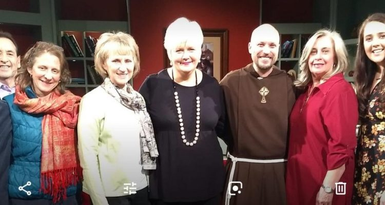 EWTN invite Antoinette to their studios in Alabama, to talk about the work of COTE on 'At Home with Jim & Joy' – January 2019